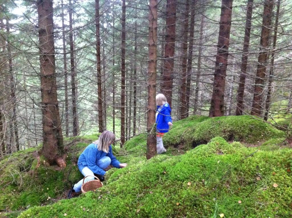 Når Miriam ikke er opptatt med lister er hun gjerne i skogen - sammen med barna.