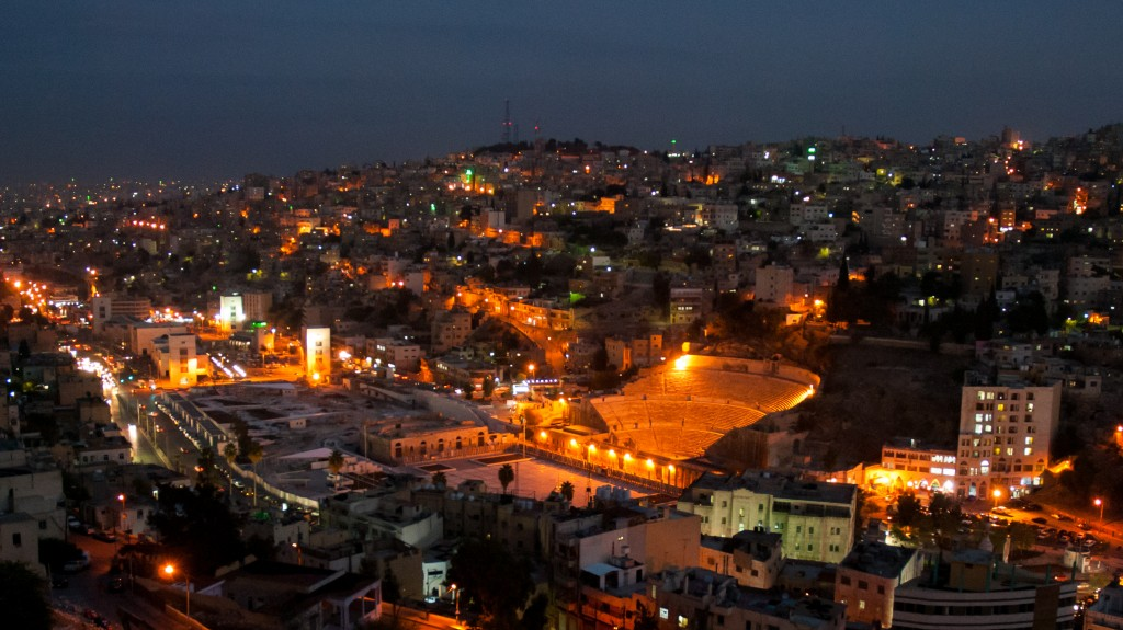 Urbant plassert i hovudstaden til Jordan. Gjestehuset ligg til venstre. Foto: M. Halsnes